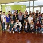 """Cei 25 de elevi apartinand la 4 dintre liceele Consortiului """"Sud-Est Agro-Vet"""", participanti la Fluxul II de mobilitati al proiectului Erasmus+ 2015-1-RO01-KA102-014841, si-au inceput activitatea de practica la Montijo, Portugalia!"""