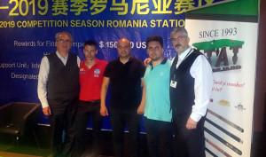 Florin Tat, primul din stânga, este implicat în biliardul românesc de peste 20 de ani.